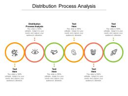 Distribution Process Analysis Ppt Powerpoint Presentation Icon Slide Download Cpb