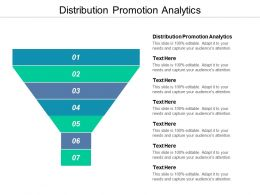 Distribution Promotion Analytics Ppt Powerpoint Presentation Infographic Template Examples Cpb