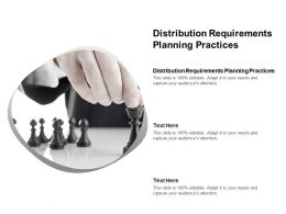 Distribution Requirements Planning Practices Ppt Powerpoint Presentation Styles Example File Cpb