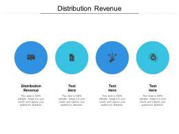 Distribution Revenue Ppt Powerpoint Presentation Pictures Brochure Cpb