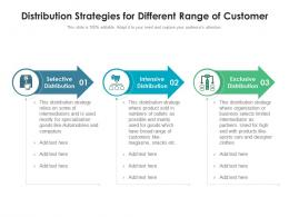 Distribution Strategies For Different Range Of Customer