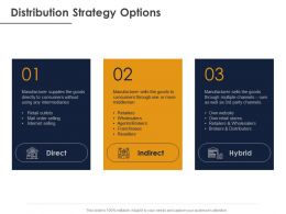 Distribution Strategy Options Direct Ppt Powerpoint Presentation Professional