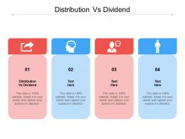 Distribution Vs Dividend Ppt Powerpoint Presentation Portfolio Graphics Cpb