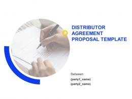 Distributor Agreement Proposal Template Powerpoint Presentation Slides