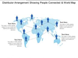 Distributor Arrangement Showing People Connected And World Map