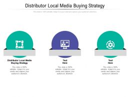 Distributor Local Media Buying Strategy Ppt Powerpoint Presentation Layouts Graphics Cpb