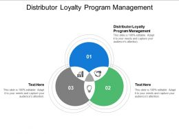 Distributor Loyalty Program Management Ppt Powerpoint Presentation Outline Slides Cpb
