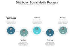 Distributor Social Media Program Ppt Powerpoint Presentation Gallery Files Cpb