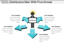 Distributors Man With Five Arrows