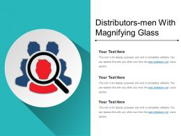 Distributors Men With Magnifying Glass