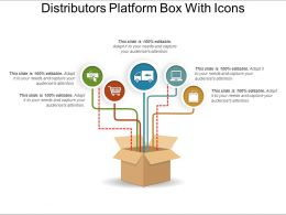 Distributors Platform Box With Icons