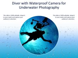 Diver With Waterproof Camera For Underwater Photography
