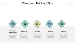 Divergent Thinking Tips Ppt Powerpoint Presentation Icon Tips Cpb