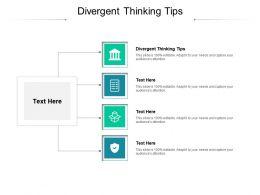 Divergent Thinking Tips Ppt Powerpoint Presentation Portfolio Graphics Design Cpb