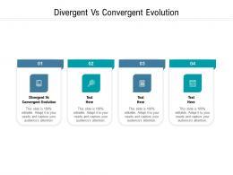 Divergent Vs Convergent Evolution Ppt Powerpoint Presentation Portfolio Slides Cpb