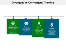 Divergent Vs Convergent Thinking Ppt Powerpoint Presentation Model Grid Cpb
