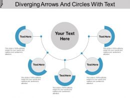Diverging Arrows And Circles With Text