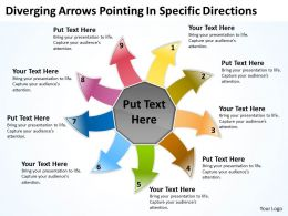 diverging arrows pointing specific directions Processs and PowerPoint templates