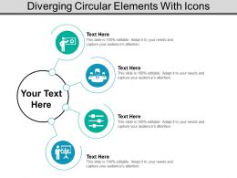 Diverging Circular Elements With Icons