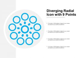 Diverging Radial Icon With 9 Points