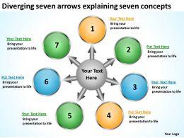 diverging_seven_arrows_explaining_concepts_diagram_software_powerpoint_slides_Slide01