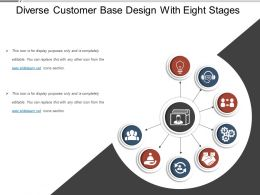 diverse_customer_base_design_with_eight_stages_Slide01