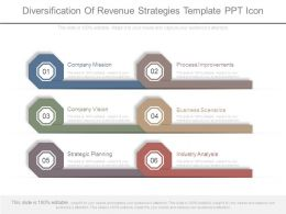 Diversification Of Revenue Strategies Template Ppt Icon