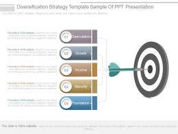 Diversification Strategy Template Sample Of Ppt Presentation