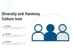 Diversity And Harmony Culture Icon