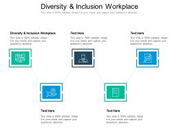 Diversity And Inclusion Workplace Ppt Powerpoint Presentation Icon Portfolio Cpb
