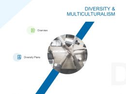 Diversity And Multiculturalism Ppt Powerpoint Presentation Icon Design