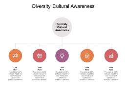 Diversity Cultural Awareness Ppt Powerpoint Presentation Model Graphics Template Cpb