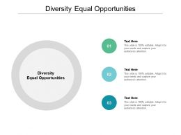 Diversity Equal Opportunities Ppt Powerpoint Presentation Professional Microsoft Cpb