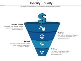 Diversity Equality Ppt Powerpoint Presentation Inspiration Background Images Cpb