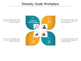 Diversity Goals Workplace Ppt Powerpoint Presentation Slides Gridlines Cpb