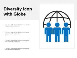 Diversity Icon With Globe