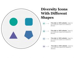 Diversity Icons With Different Shapes
