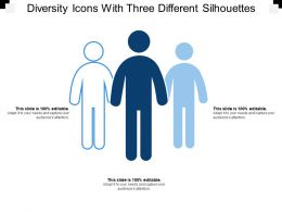 Diversity Icons With Three Different Silhouettes