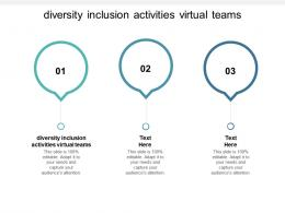 Diversity Inclusion Activities Virtual Teams Ppt Powerpoint Presentation Inspiration Cpb