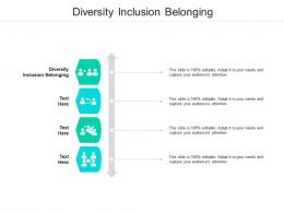 Diversity Inclusion Belonging Ppt Powerpoint Presentation Gallery Samples Cpb