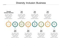 Diversity Inclusion Business Ppt Powerpoint Presentation Show Summary Cpb