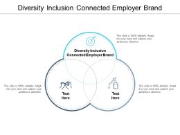 Diversity Inclusion Connected Employer Brand Ppt Powerpoint Presentation Show Ideas Cpb