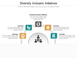 Diversity Inclusion Initiatives Ppt Powerpoint Presentation Backgrounds Cpb