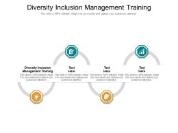 Diversity Inclusion Management Training Ppt Pictures File Formats Cpb
