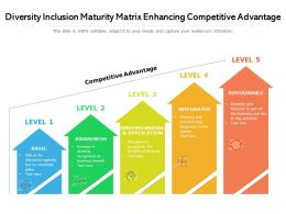 Diversity Inclusion Maturity Matrix Enhancing Competitive Advantage