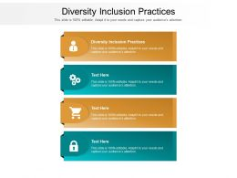Diversity Inclusion Practices Ppt Powerpoint Portfolio Designs Download Cpb