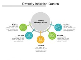 Diversity Inclusion Quotes Ppt Powerpoint Presentation Portfolio Icons Cpb