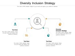 Diversity Inclusion Strategy Ppt Powerpoint Presentation Infographics Professional Cpb