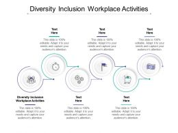 Diversity Inclusion Workplace Activities Ppt Powerpoint Presentation Pictures Objects Cpb