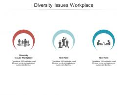 Diversity Issues Workplace Ppt Powerpoint Presentation Pictures Designs Download Cpb